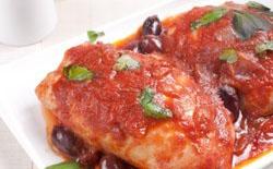 Blancs de poulet aux olives facile