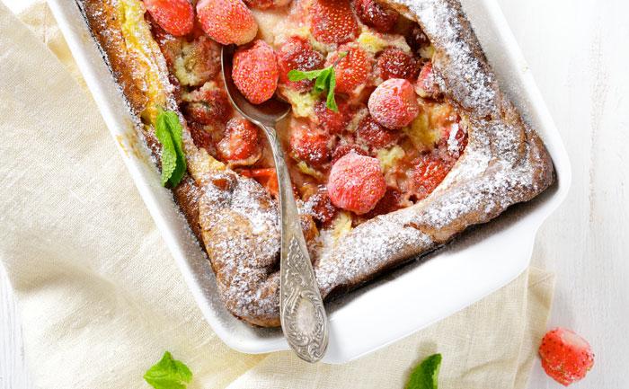 Clafoutis sans gluten aux fraises