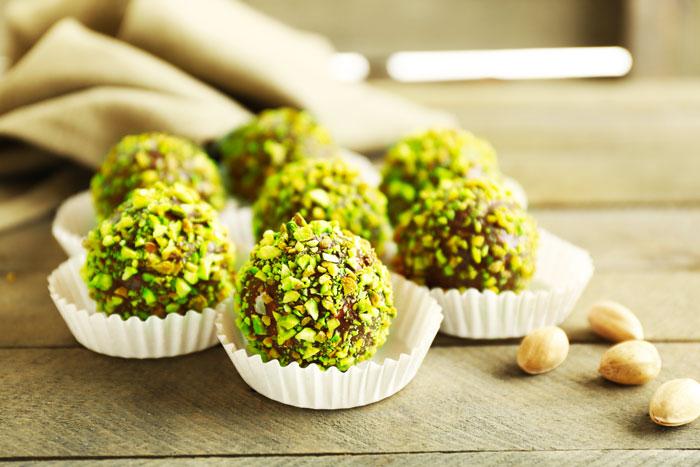 Bouchées de pistaches au citron vert