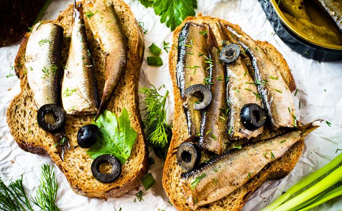 Croque aux sardines