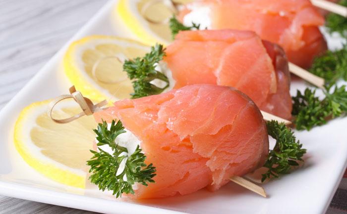 Aumônières de saumon farcies au surimi