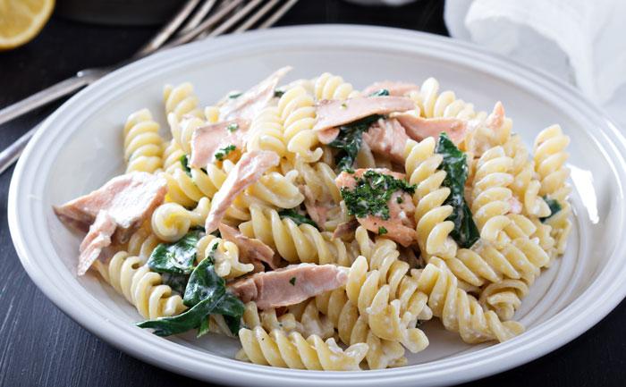 One Pot Pasta aux épinards et saumon
