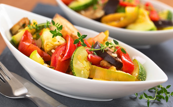 Mélange de légumes confits