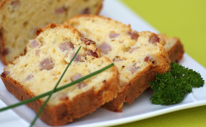 Cake au gruyère et au jambon