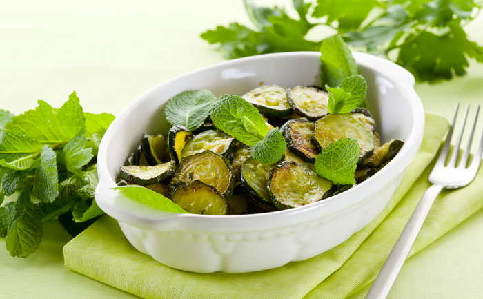 Courgettes au micro-ondes