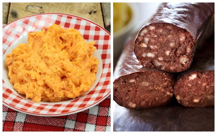 Boudin noir et purée de patate douce