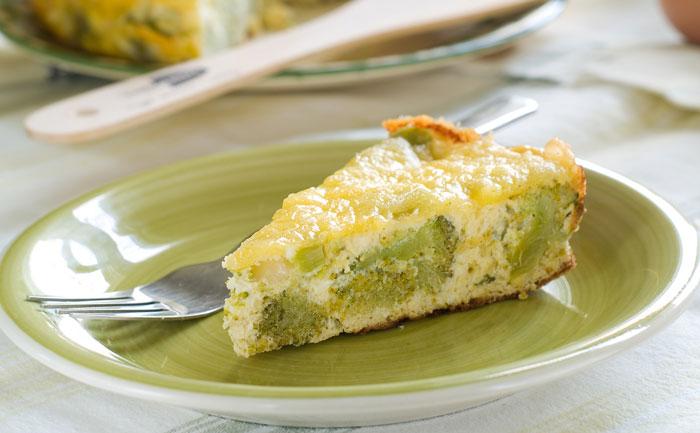 Quiche sans pâte aux brocolis et à la mozzarella