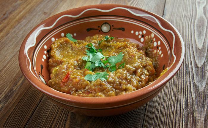 Aubergine indienne (baigan bharta)