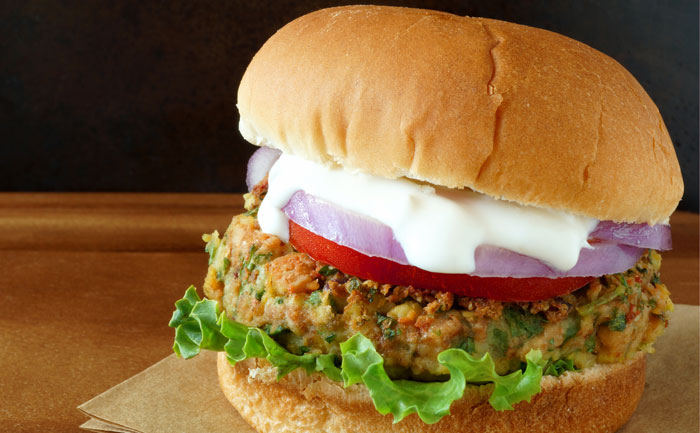 Burger végétarien au quinoa