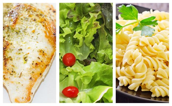 Cuisse de poulet p tes et salade verte wecook - Salade verte calorie ...
