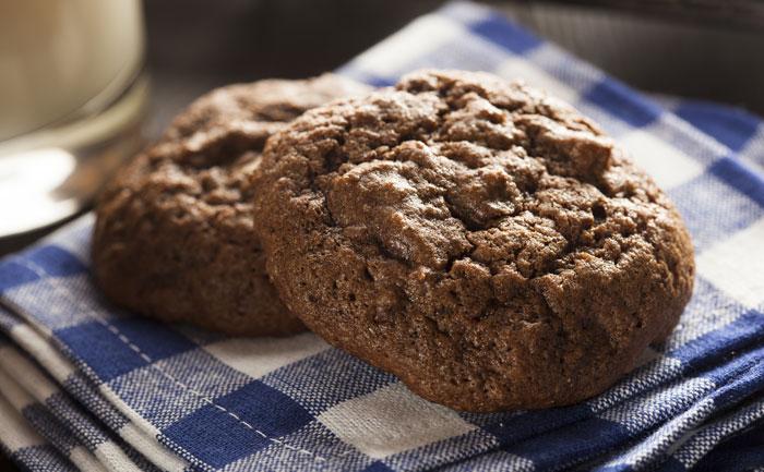 Cookies sans gluten au cacao et noisettes