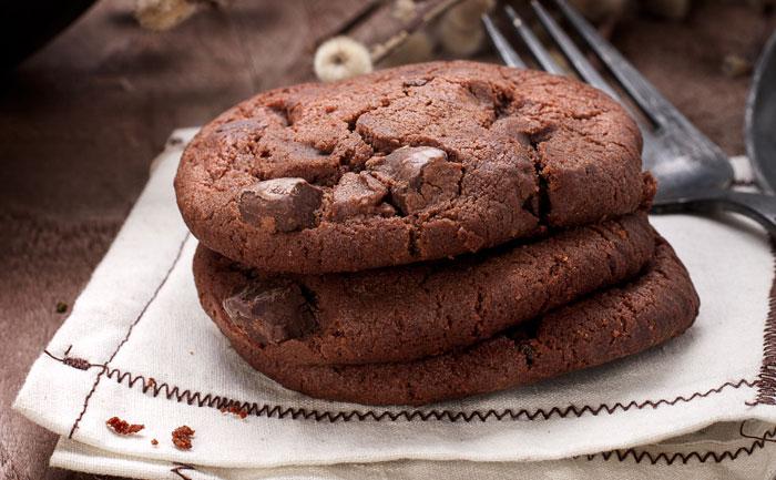 Cookies sans gluten au chocolat et aux pruneaux
