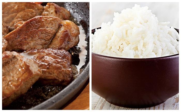 Sauté de veau au vin blanc et paprika, riz