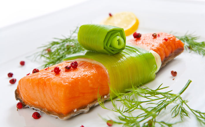 Saumon aux poireaux au micro-ondes