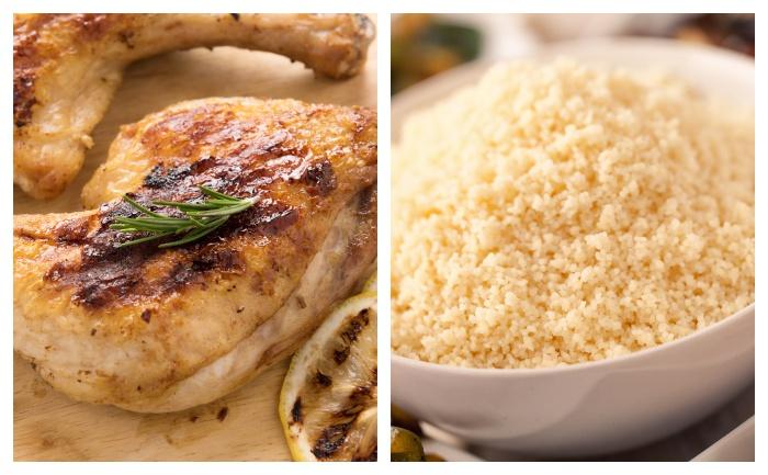 Cuisse de poulet la semoule wecook - Cuisse de poulet calories ...