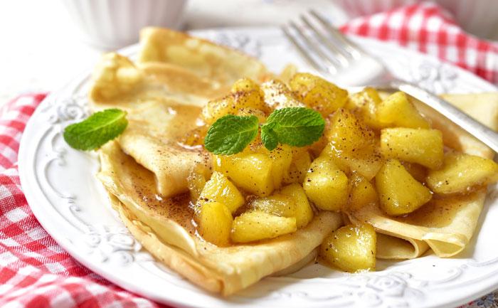 Crêpes au cidre et pommes