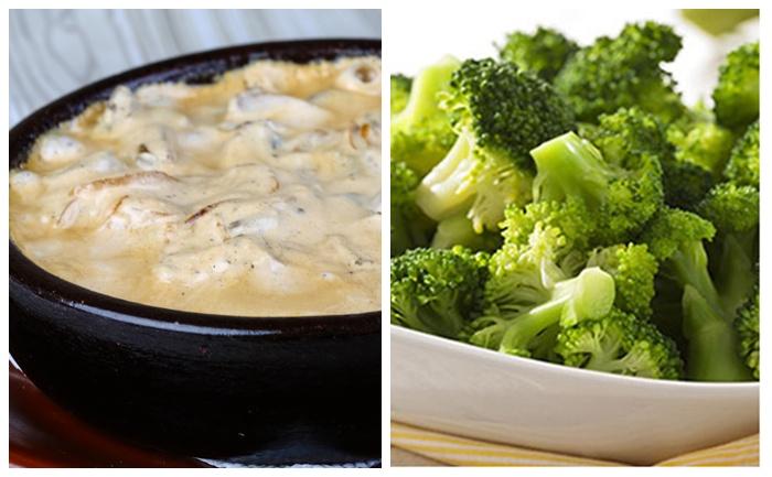 Poulet au fromage et brocolis