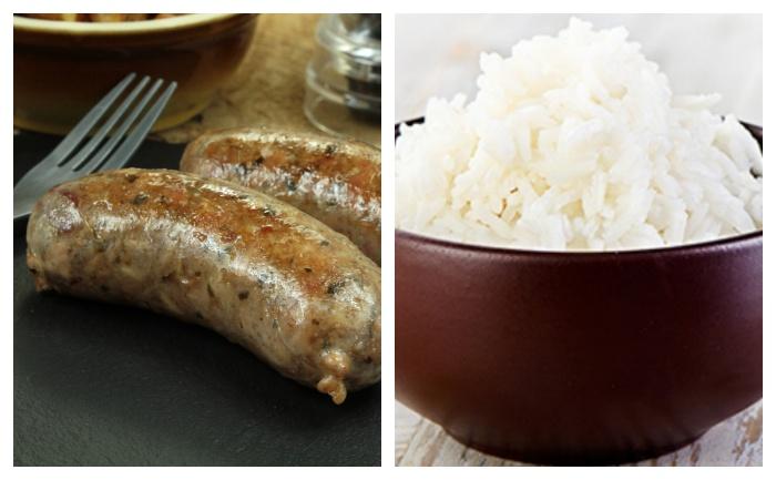 Andouillette et riz