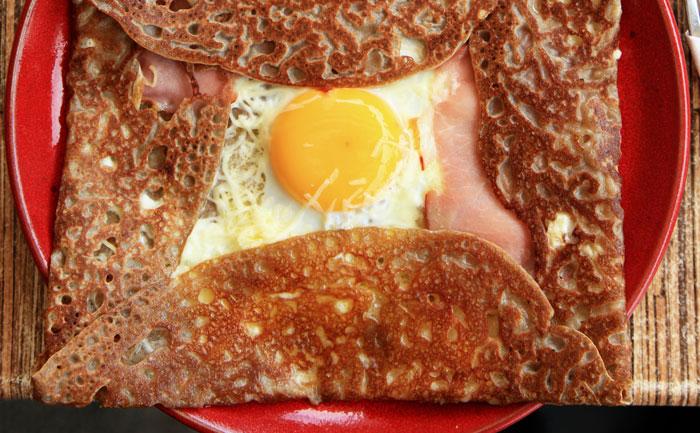 Galettes au jambon et champignons au micro-ondes