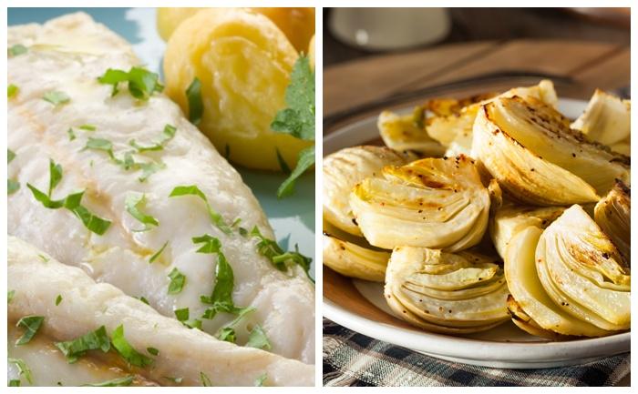 Fenouil confit et poisson en cocotte-minute