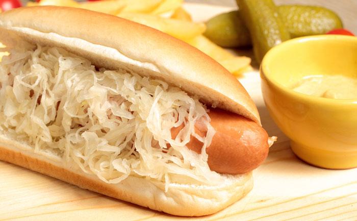 Hot dog alsacien à la choucroute