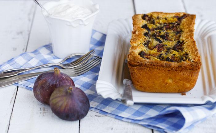 Cake à la banane et aux figues sans gluten