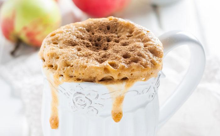 Mug cake pomme cannelle