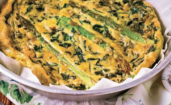 Quiche aux asperges sans pâte sans gluten