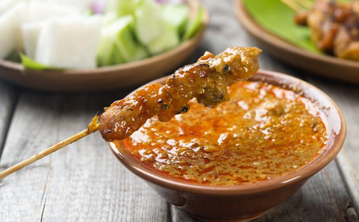 Brochettes de porc à la sauce satay