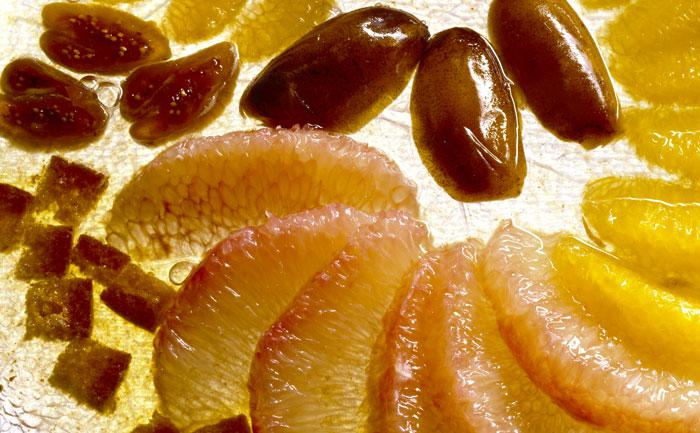 Carpaccio d'agrumes à l'orientale