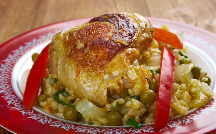 Arroz con pollo (riz mexicain au poulet)