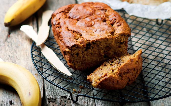Cake paléo à la banane et aux pépites de chocolat