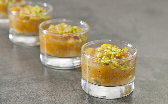Verrine de poires au foie gras