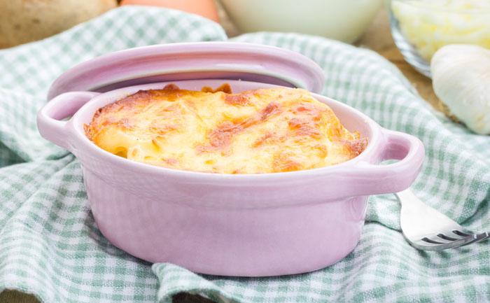 Cassolette de pommes de terre au saumon fumé