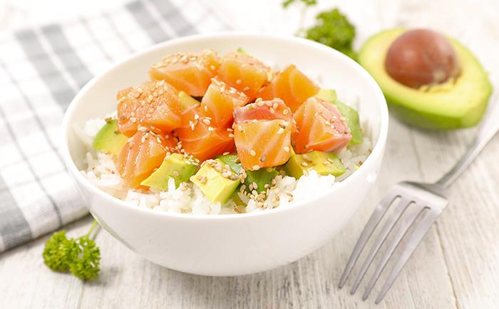 Poke bowl express au saumon