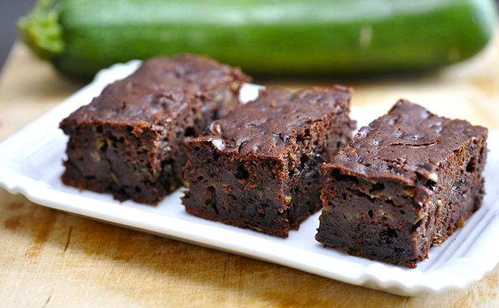 Gâteau au chocolat et à la courgette sans beurre