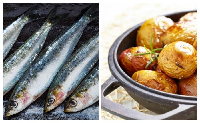 Filets de sardines et grenailles au four
