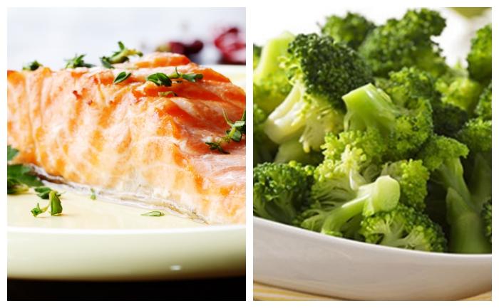 Pavé de saumon et brocolis
