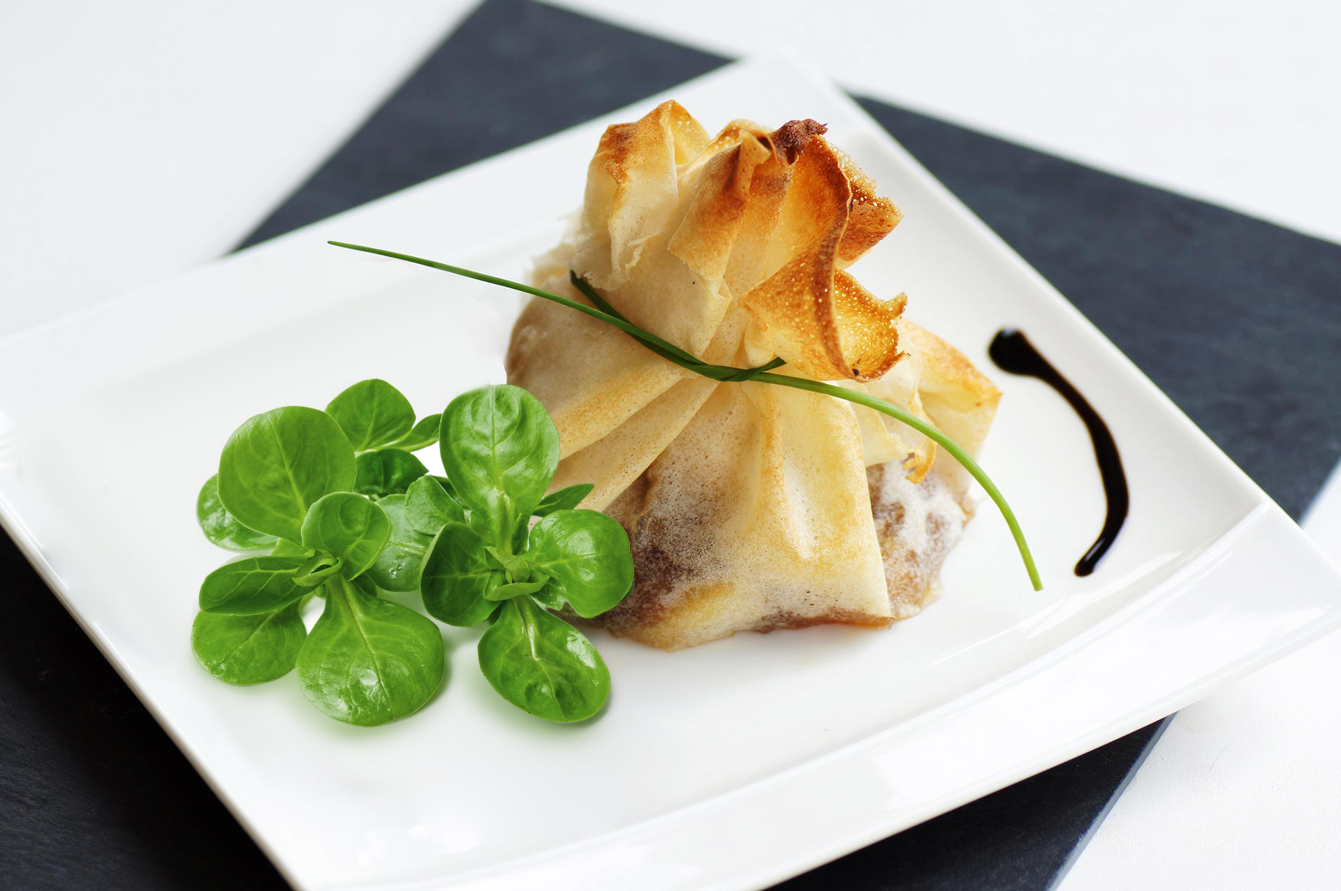 Aumonière de foie gras
